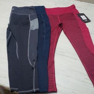 3 pair of pocket leggings